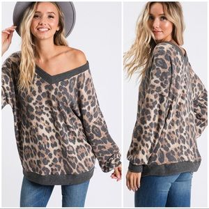 Super Soft Animal Print Slouchy Tunic